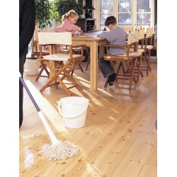 DC010 kit (c). Woca Wood Lye white & Woca White Soap floor kit, 16 to 35m2, Work by hand.   (DC)