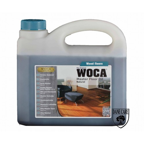 Woca Master Floor Oil, Natural 10ltr total; box of 4 x 2.5L (WF) 522073AA