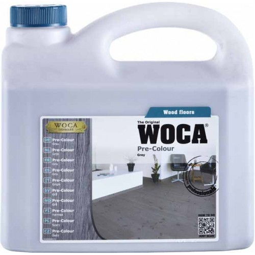 Woca Pre Colour Stain Grey 10ltr total; box of 4 x 2.5L (WF) 500229A
