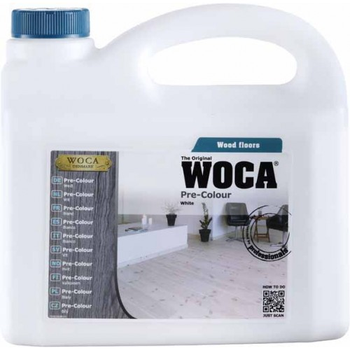 Woca Pre Colour Stain White 10ltr total; box of 4 x 2.5L (WF) 500230A