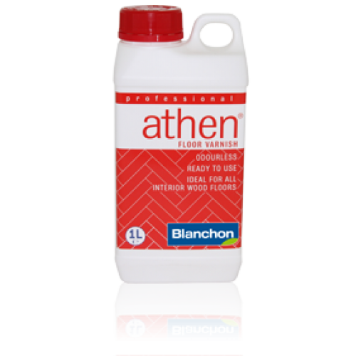 Blanchon ATHEN waterbased floor varnish 10 ltr (two 5 ltr cans) clear matt 5704957 (BL).