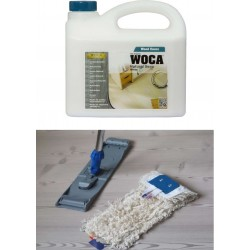 Kit Saving: DC023 Clean for white soaped wooden floor by hand, incl Woca Natural Soap White 2.5ltr and a breakframe flat Mop  (DC)