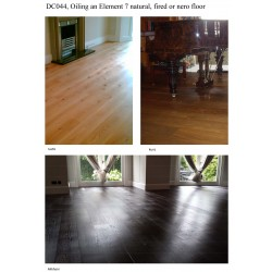 DC044 kit (f): Double oiling an Element 7 MA natural, fired or nero floor,  floor kit, work by hand, 76 to 95m2  (DC)