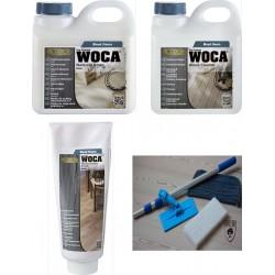 Kit Saving: DC136, Starter care and maintenance for white UV-oiled floors, inc a Doodlebug, 1ltr Woca white Floor Soap& white Maintenance Paste and 1ltr Wood Cleaner  (DC)