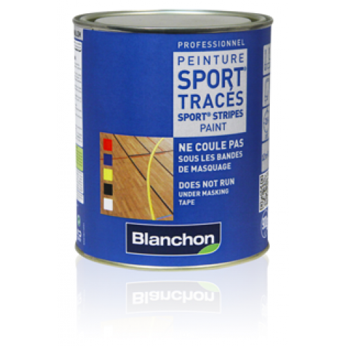 Blanchon SPORT® Stripes Paint 5.4 kg (six 0.9 kg pots) black 02106150 (BL).