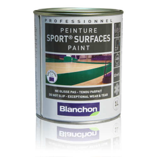 Blanchon SPORT® Surfaces Paint  10 ltr (one 10 ltr can) black 09101646 (BL).