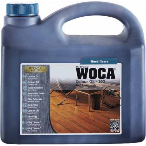 Woca Colour Oil Brazil Brown 102 10ltr total; box of 4 x 2.5L (WF) 530225A