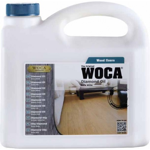 Woca Diamond Oil, White 10ltr total; box of 4 x 2.5L (WF) 523025A