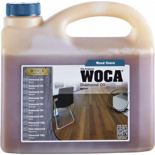 Woca Diamond Oil, Natural 6ltr total; box of 6 x 1L (WF) 522210AA