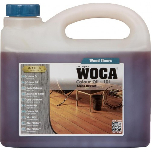 Woca Colour Oil Light Brown 101 10ltr total; box of 4 x 2.5L (WF) 530125A