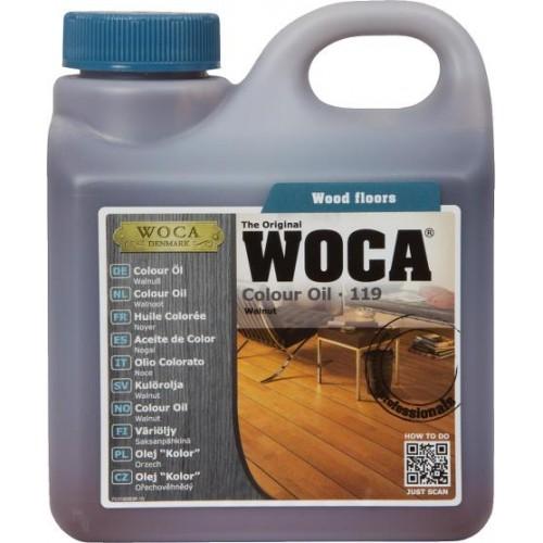 Woca Colour Oil Walnut 119 6ltr total; box of 6 x 1L (WF) 531900A