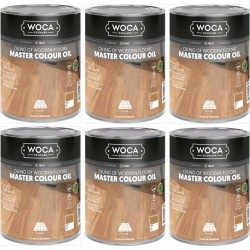 TRADE PRICE! Woca Master Colour Oil white 6ltr total; box of 6 x 1L 522572AA (DC)