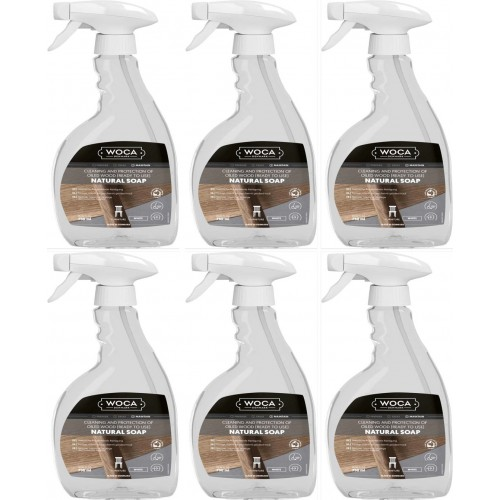 TRADE PRICE! Woca Natural Soap White in Spray 4.5ltr total; box of 6 x 0.75L 510901AA (WF)