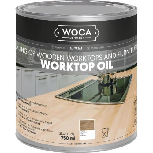 Woca Worktop & furniture Oil Natural 0.75L 527713AA  (DC)