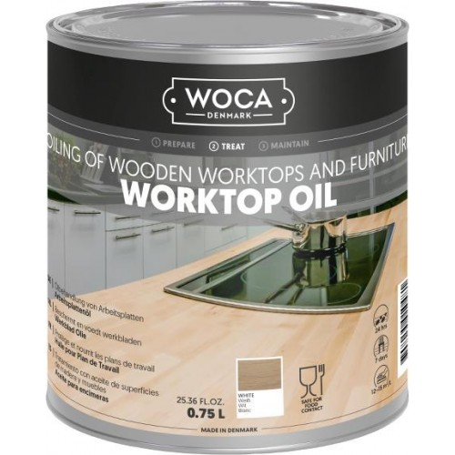 Woca Worktop & furniture Oil White 0.75L 527814AA  (DC)